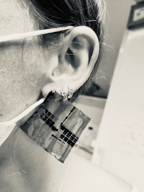 121 - Silver Earing