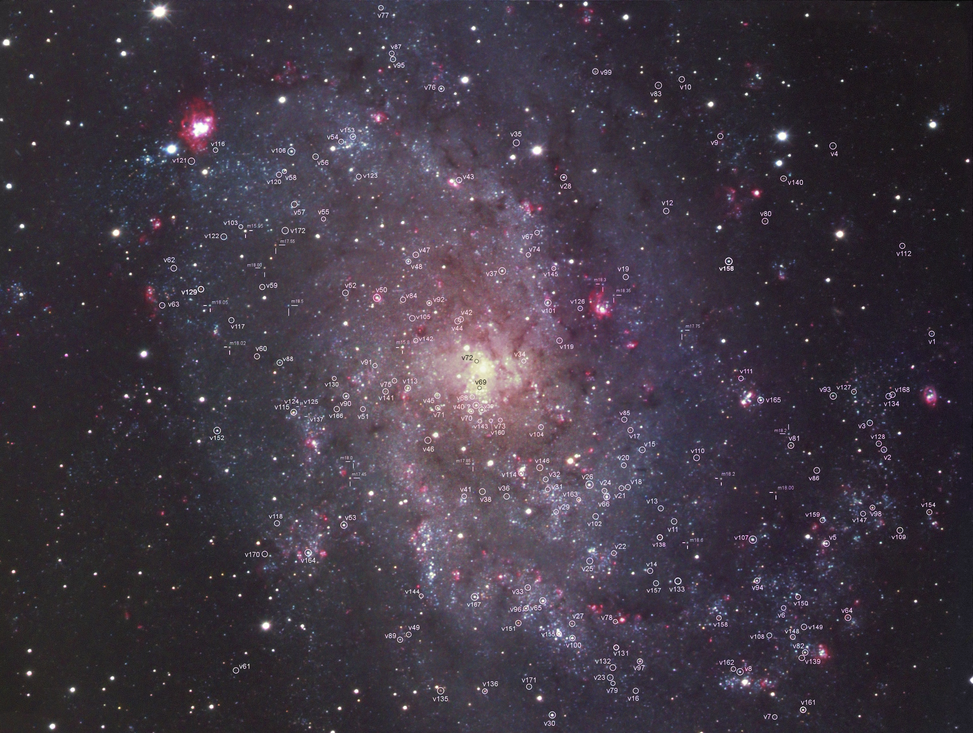 52 - Les étoiles variables de la Galaxie du Triangle