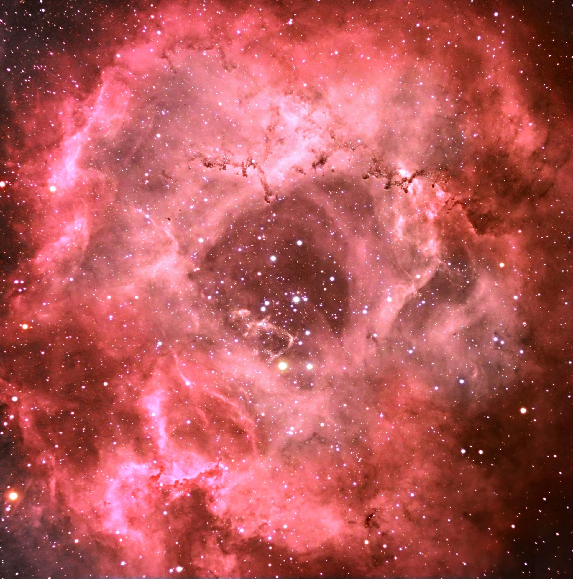 70 - Nébuleuse de la rosette dans la constellation de la Licorne
